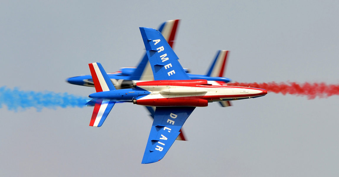 Patrouille de France à l'Ecole de l'Air de Salon