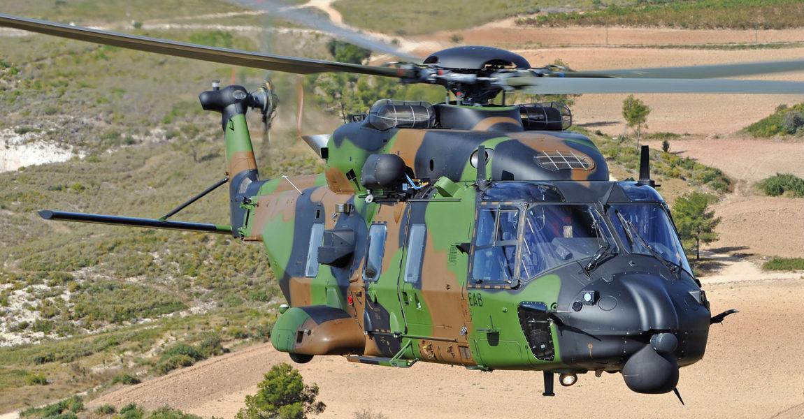 Vol d'essai en hélicoptère NH90